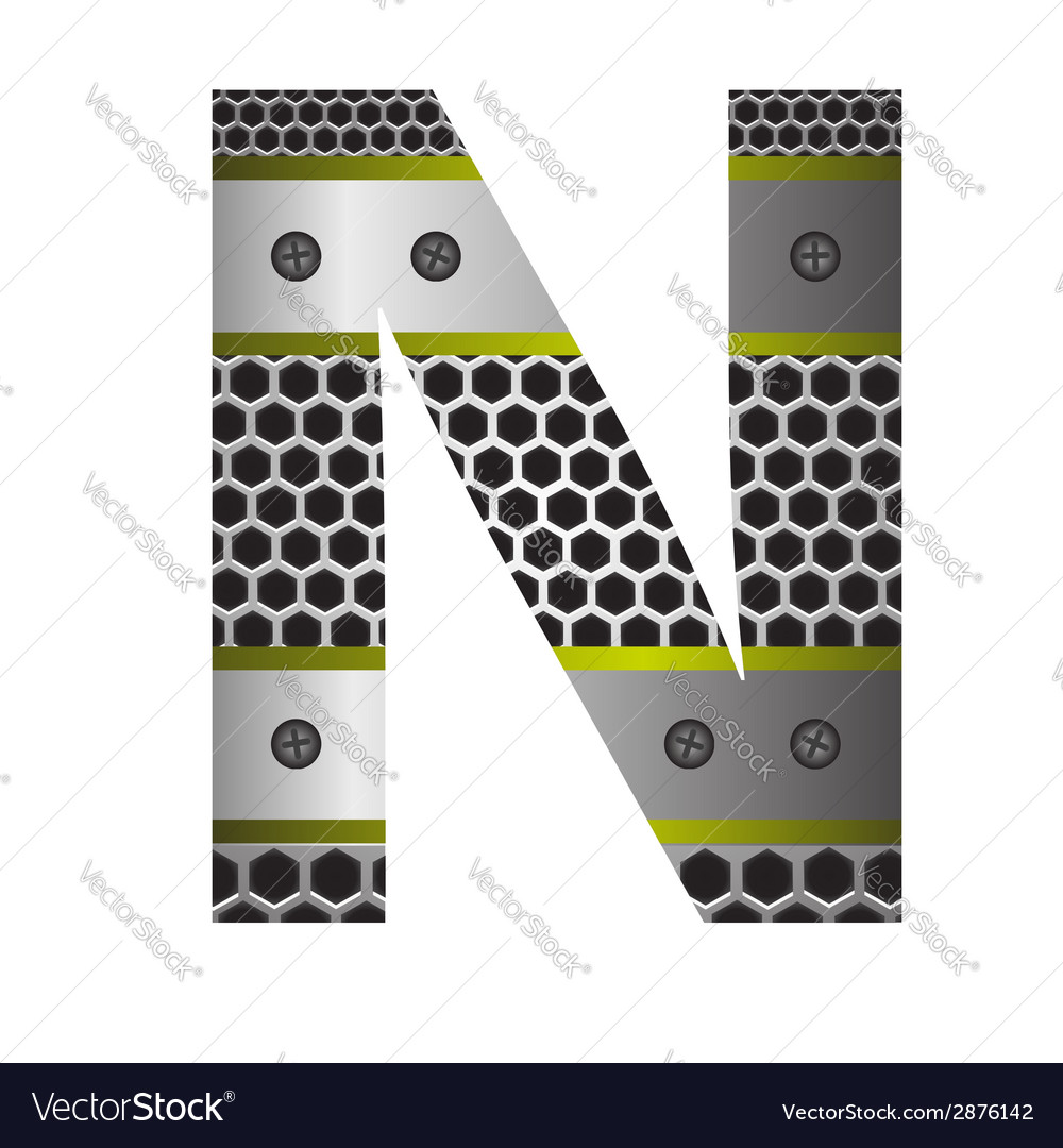 Perforated metal letter n vector | Price: 1 Credit (USD $1)