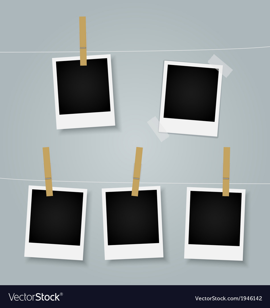 Polaroid picture frames vector | Price: 1 Credit (USD $1)