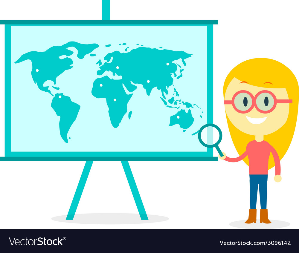 Searching all over the world vector | Price: 1 Credit (USD $1)