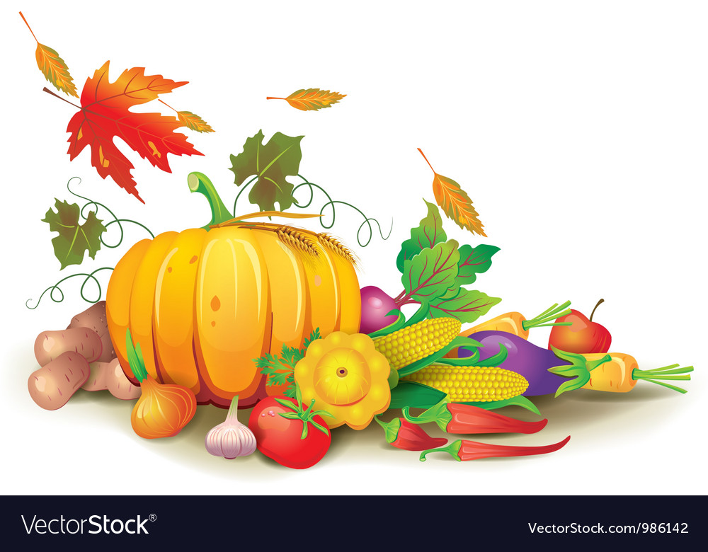 Still life of autumn harvest vector | Price: 5 Credit (USD $5)
