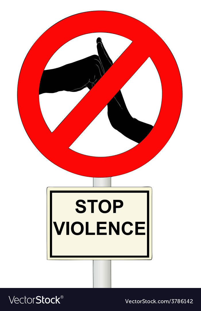 Stop violence vector | Price: 1 Credit (USD $1)