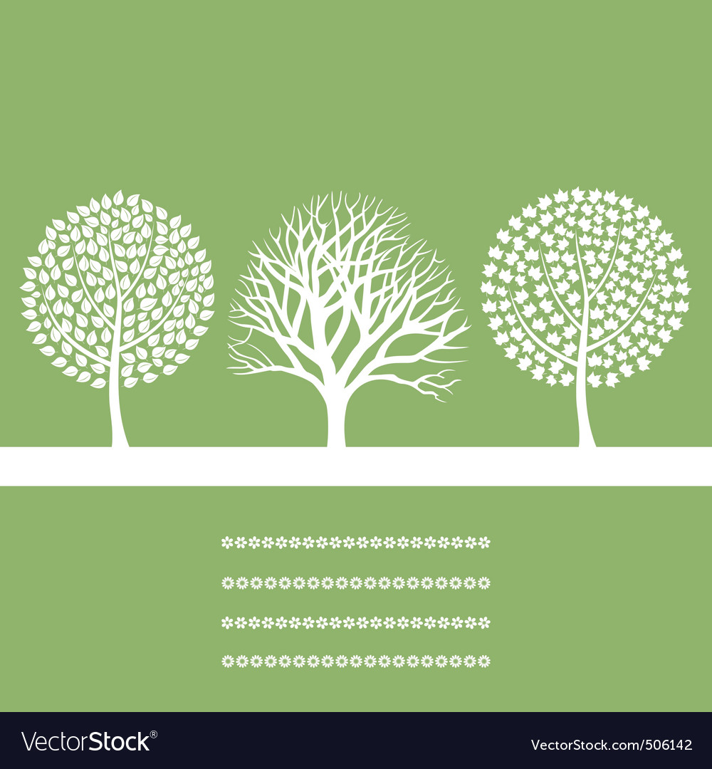 Three trees vector | Price: 1 Credit (USD $1)