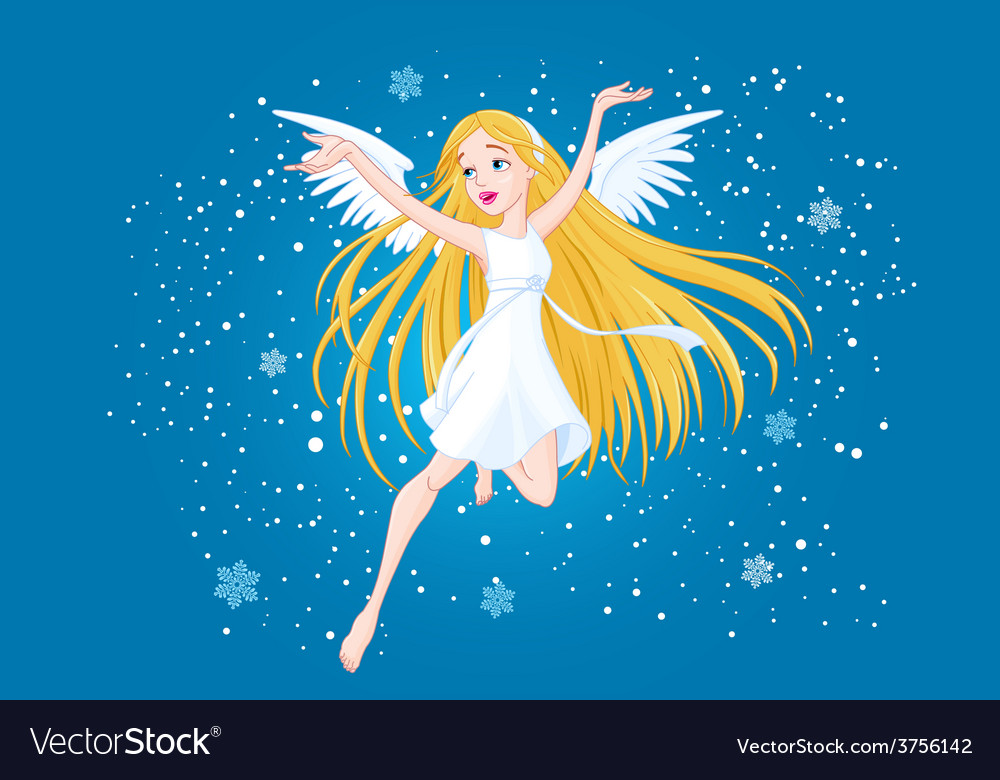 Winter fairy vector | Price: 1 Credit (USD $1)