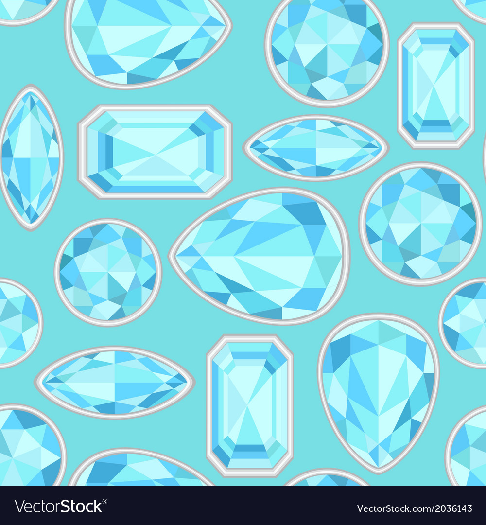 Blue sapphire saturated color seamless pattern vector | Price: 1 Credit (USD $1)