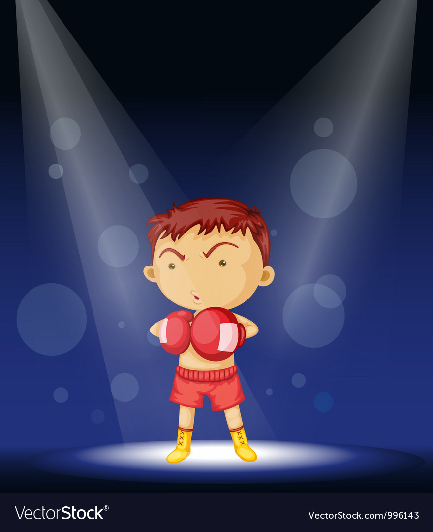 Boy boxer stage performance vector | Price: 1 Credit (USD $1)