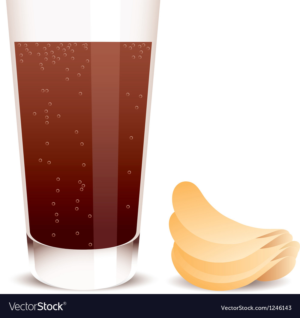 Cola and potato chips vector | Price: 1 Credit (USD $1)