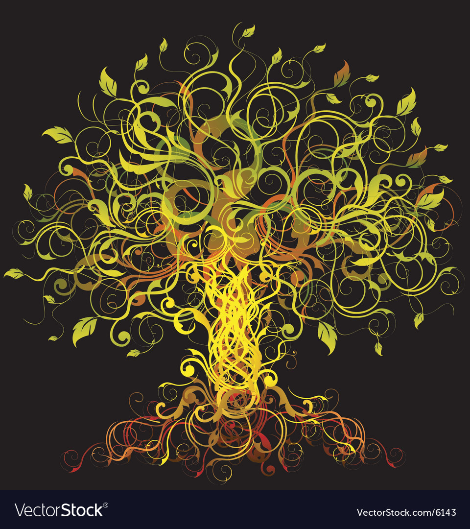 Decorative tree vector | Price: 1 Credit (USD $1)