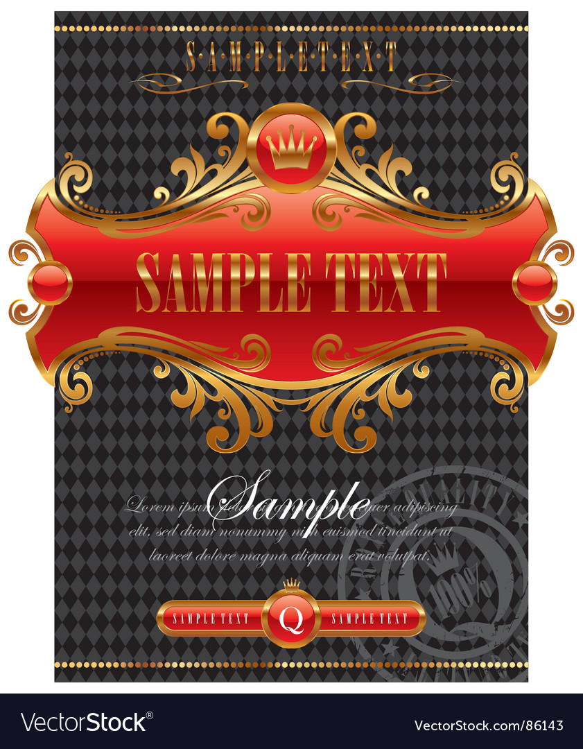 Design with ornate golden frame vector | Price: 1 Credit (USD $1)