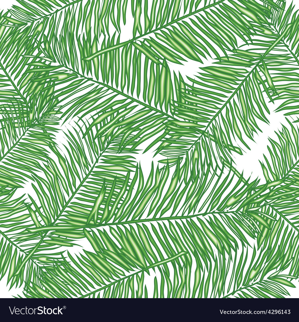 Palm leaves abstract seamless pattern vector | Price: 1 Credit (USD $1)