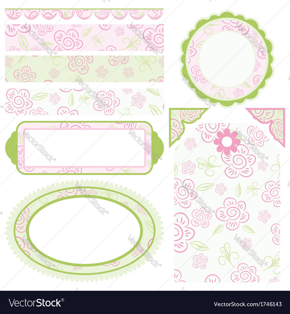 Set of elements for design collection for mom vector | Price: 1 Credit (USD $1)