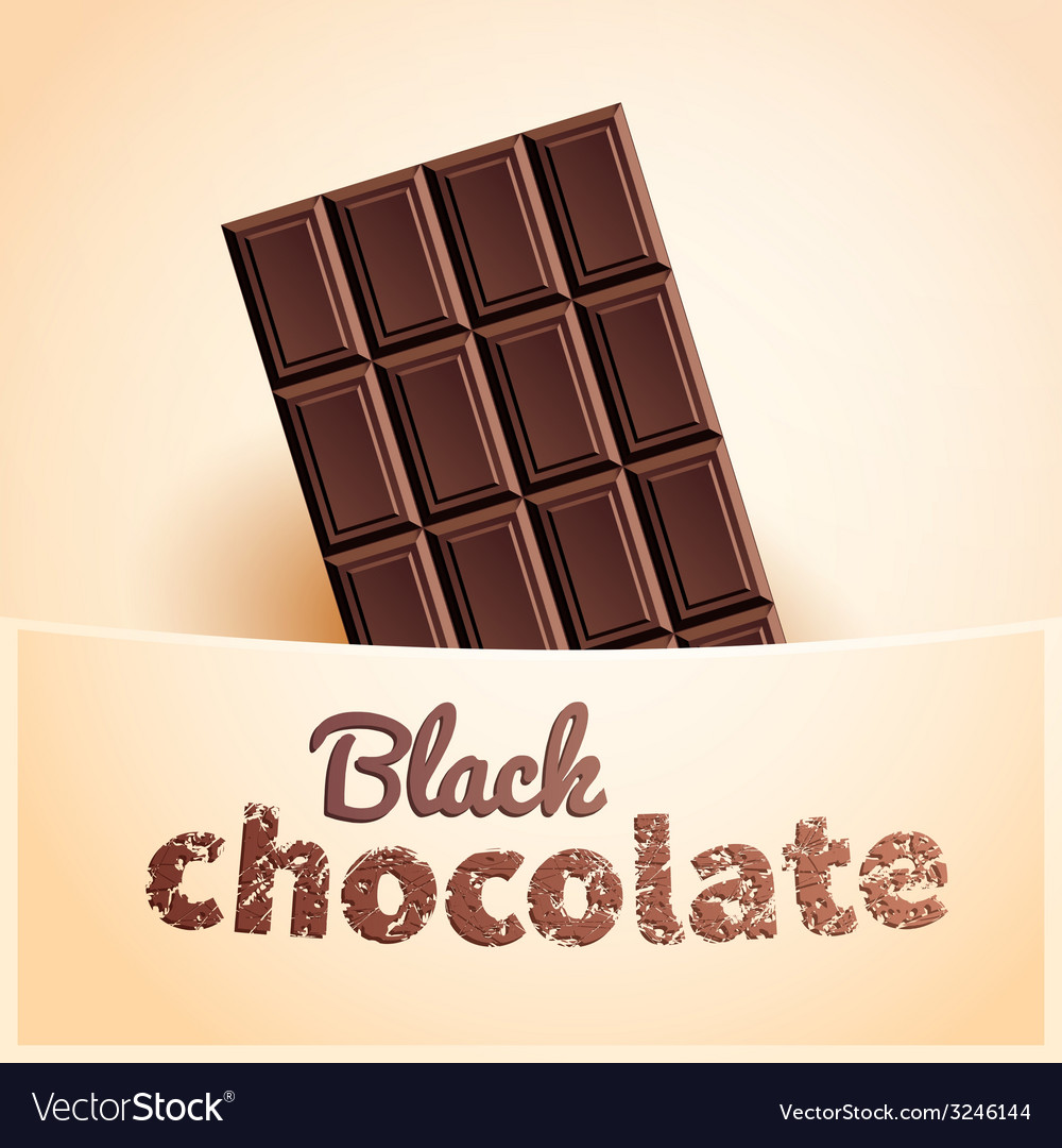 Bar of black chocolate vector | Price: 1 Credit (USD $1)