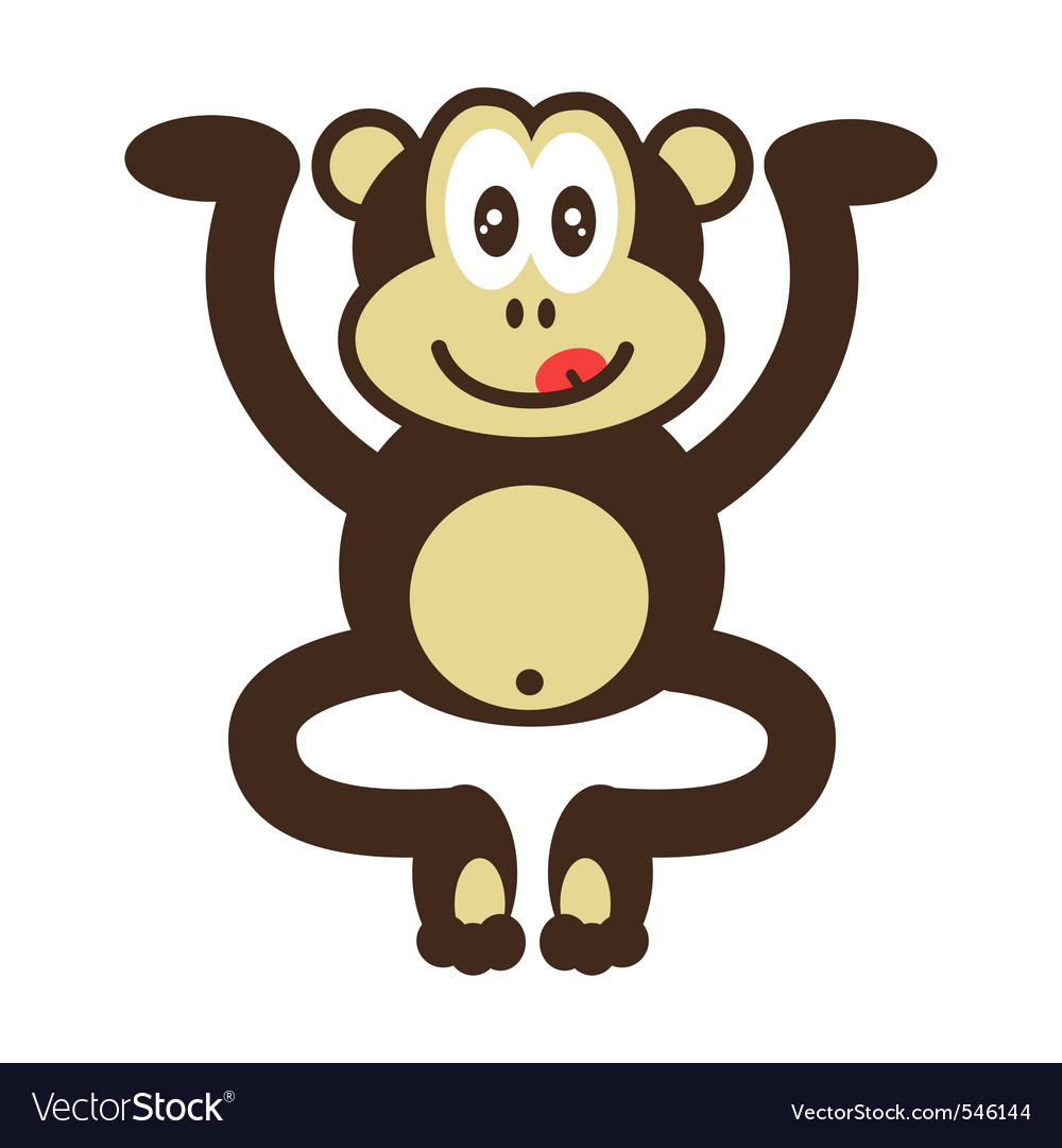 Cute monkey drawing vector | Price: 1 Credit (USD $1)