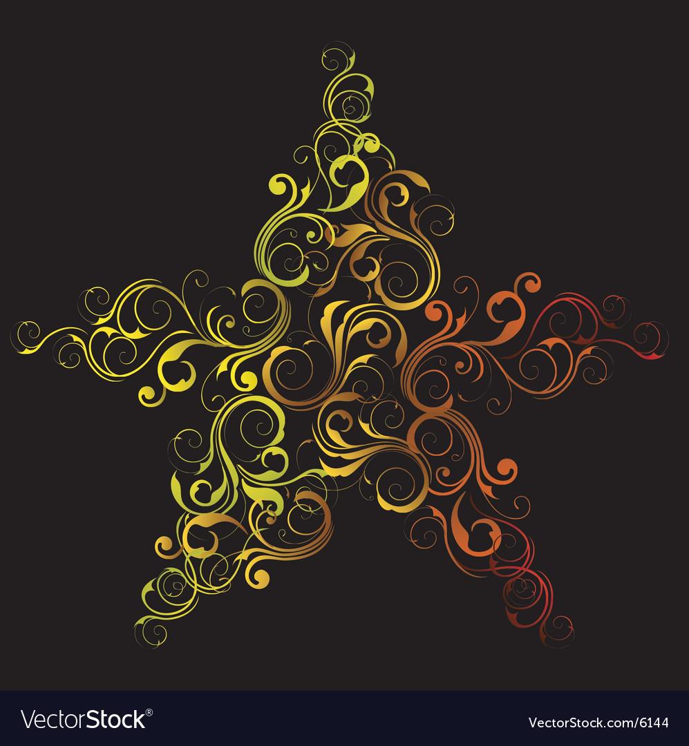 Decorative star vector | Price: 1 Credit (USD $1)