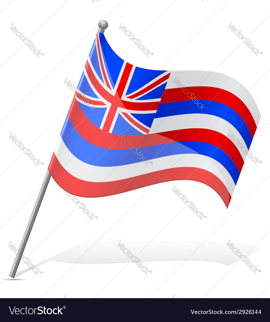 Flag of hawaii vector | Price: 1 Credit (USD $1)