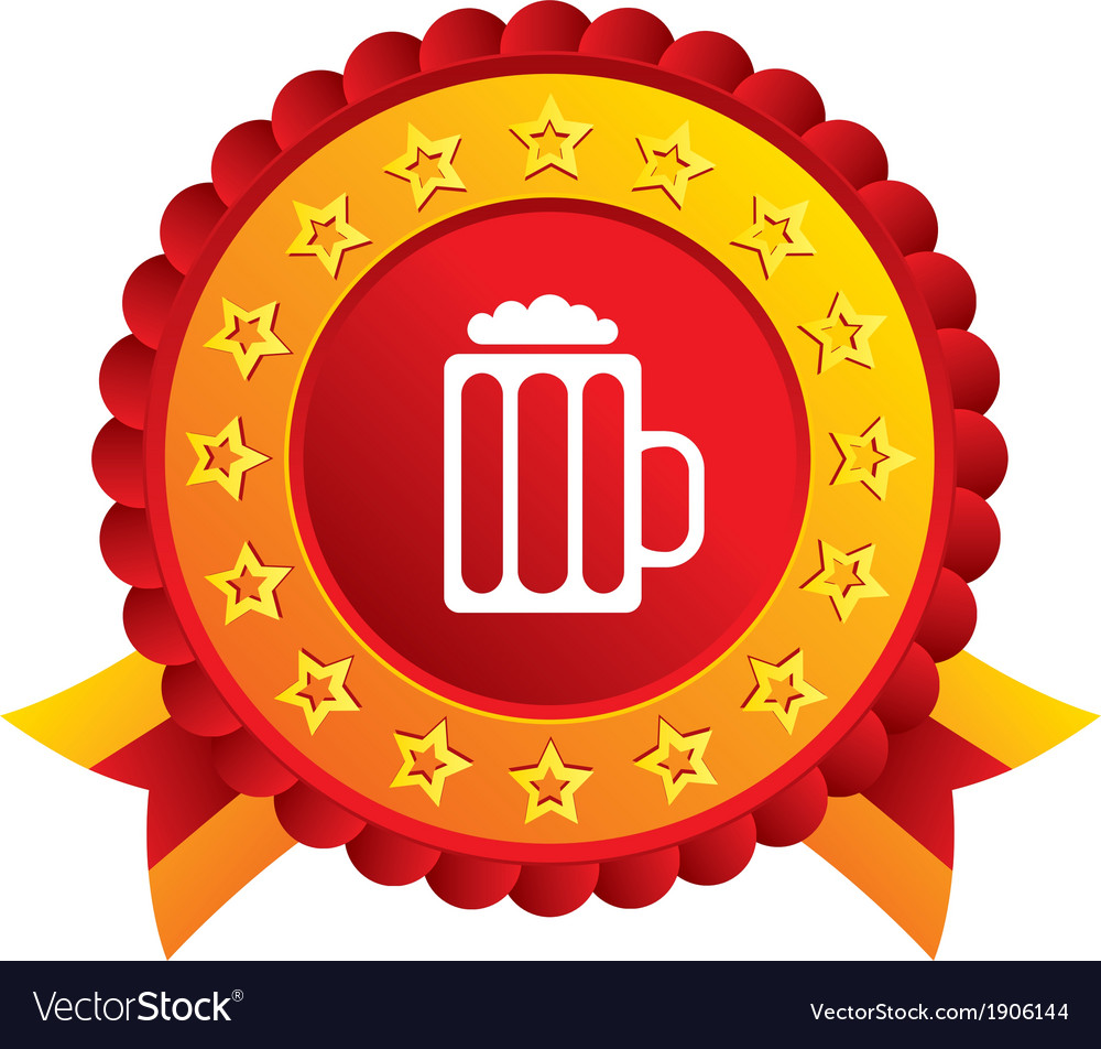 Glass of beer sign icon alcohol drink symbol vector | Price: 1 Credit (USD $1)