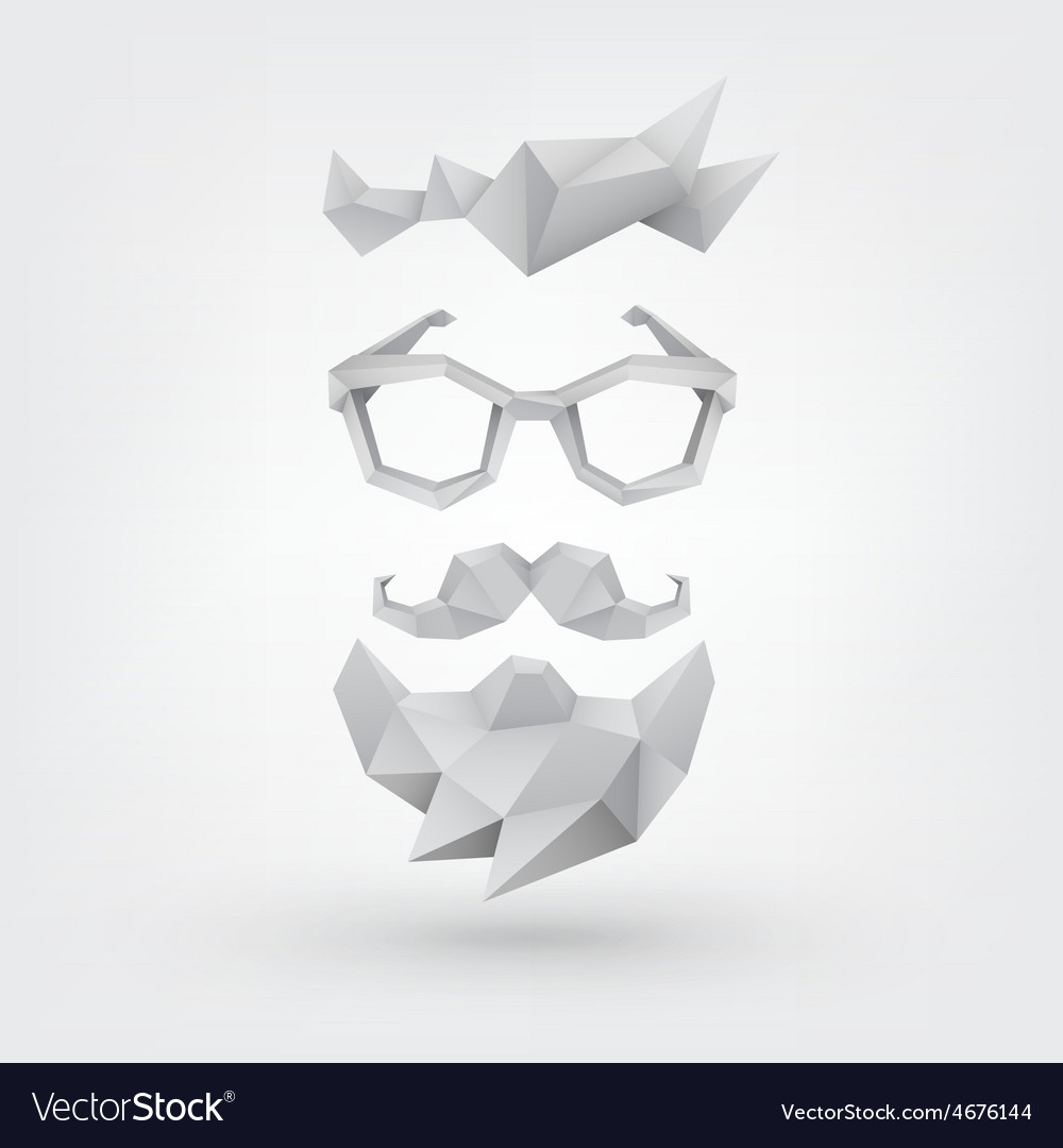 Hipster concept low poly style vector | Price: 1 Credit (USD $1)