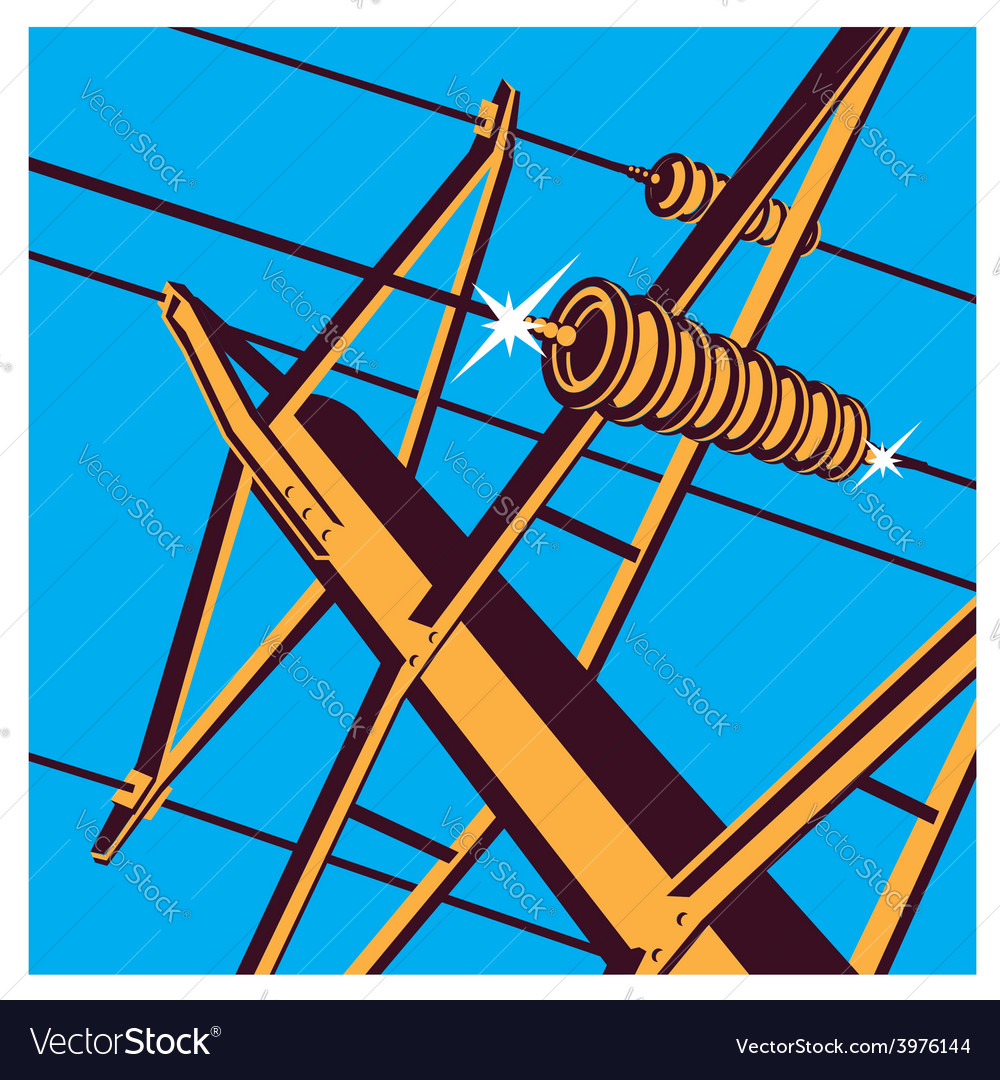 Power lines vector | Price: 1 Credit (USD $1)