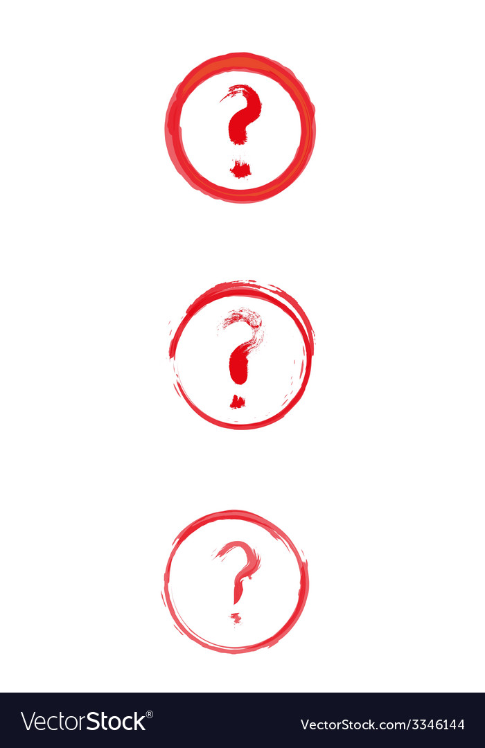 Red danger sign with question mark vector | Price: 1 Credit (USD $1)