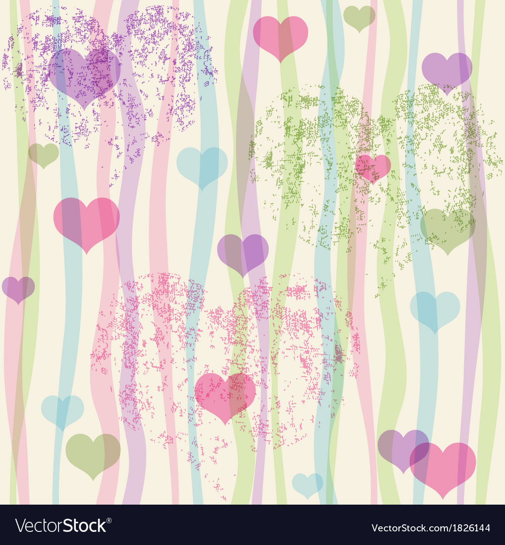 Seamless valentine pastel grunge pattern vector | Price: 1 Credit (USD $1)