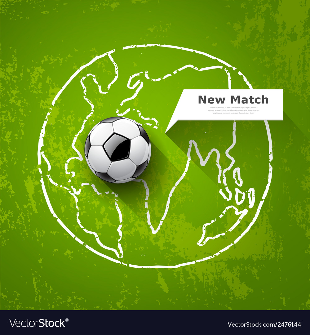 Soccer ball on map world design vector | Price: 1 Credit (USD $1)