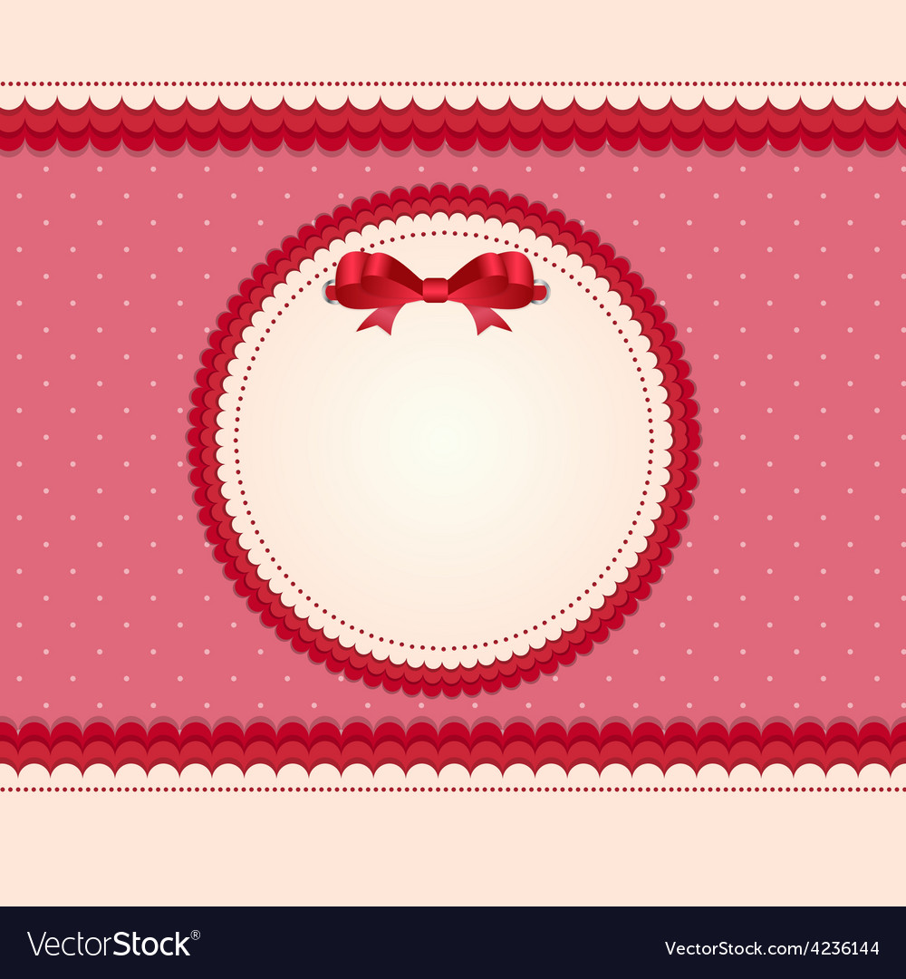 Vintage card with bow vector | Price: 1 Credit (USD $1)