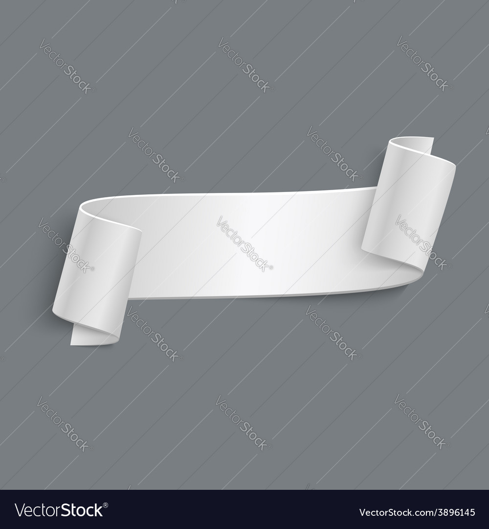 3d curved paper banner isolated on grey vector   Price: 1 Credit (USD $1)