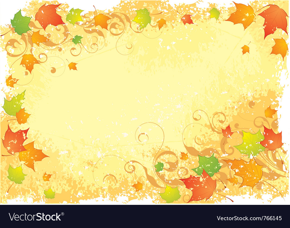 Autumn stationarynd leaves vector | Price: 1 Credit (USD $1)