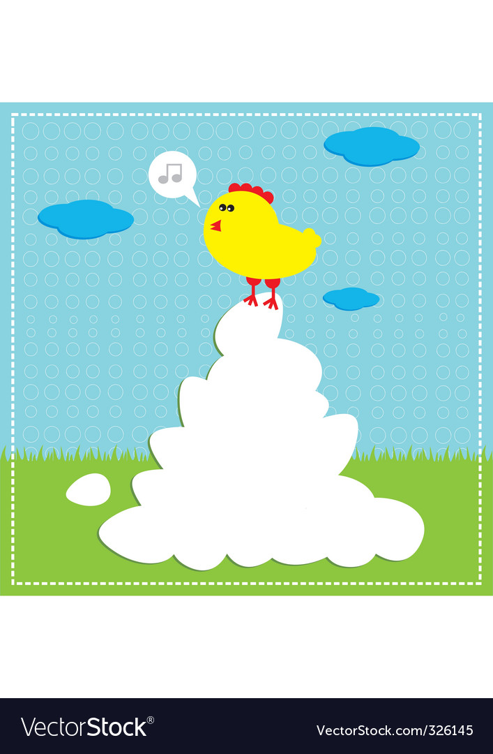 Chicken song vector | Price: 1 Credit (USD $1)