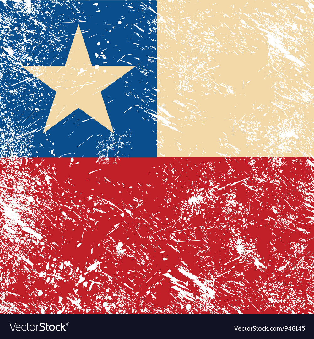 Chile retro flag vector | Price: 1 Credit (USD $1)