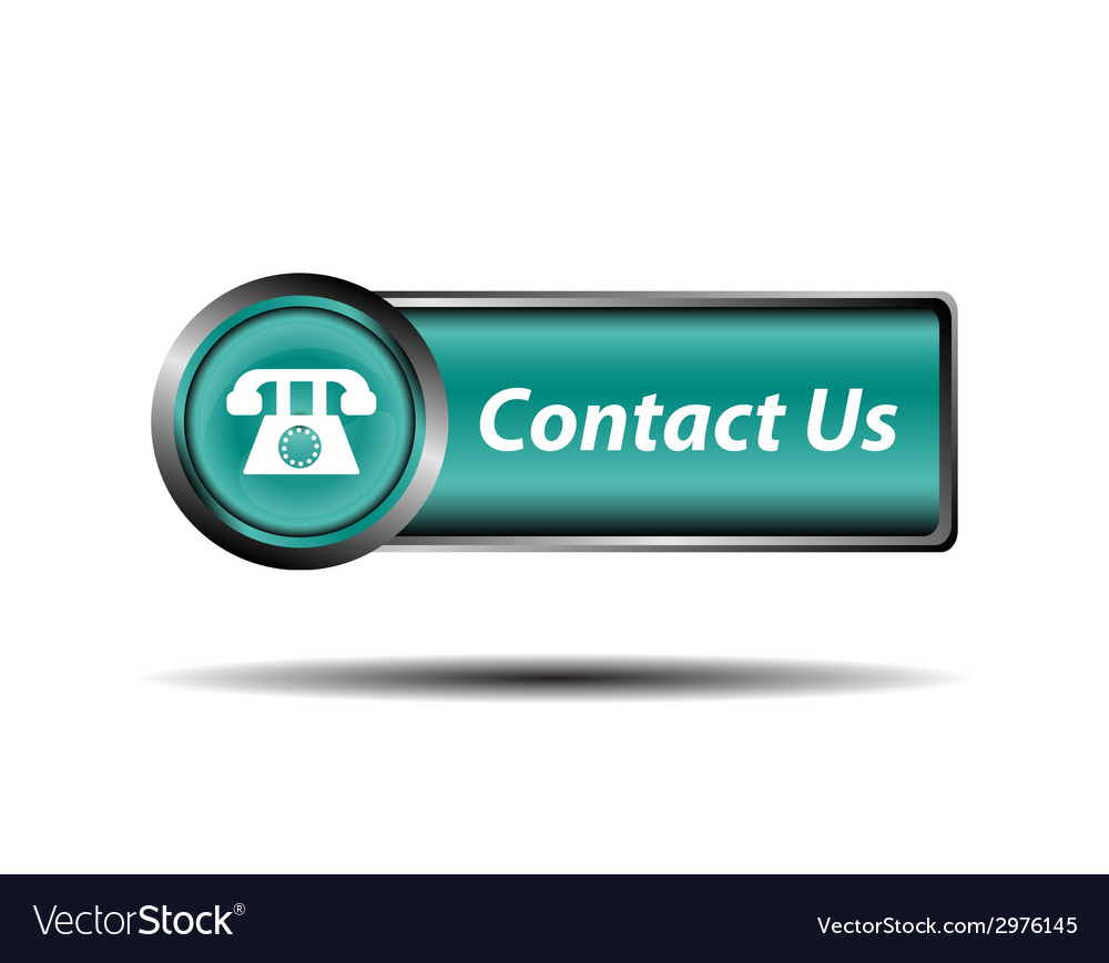 Contact us button blue reflected square sign vector | Price: 1 Credit (USD $1)