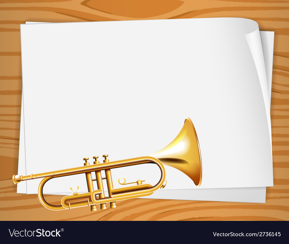Empty bondpapers with a trombone vector | Price: 1 Credit (USD $1)