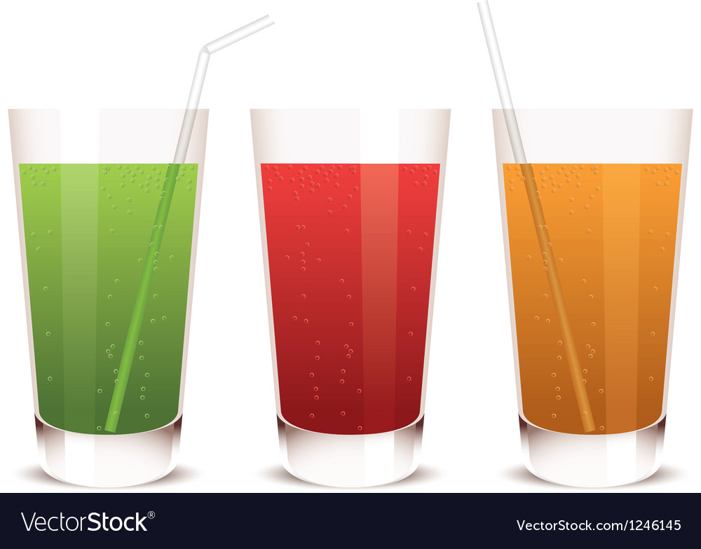 Glass of juice vector | Price: 1 Credit (USD $1)