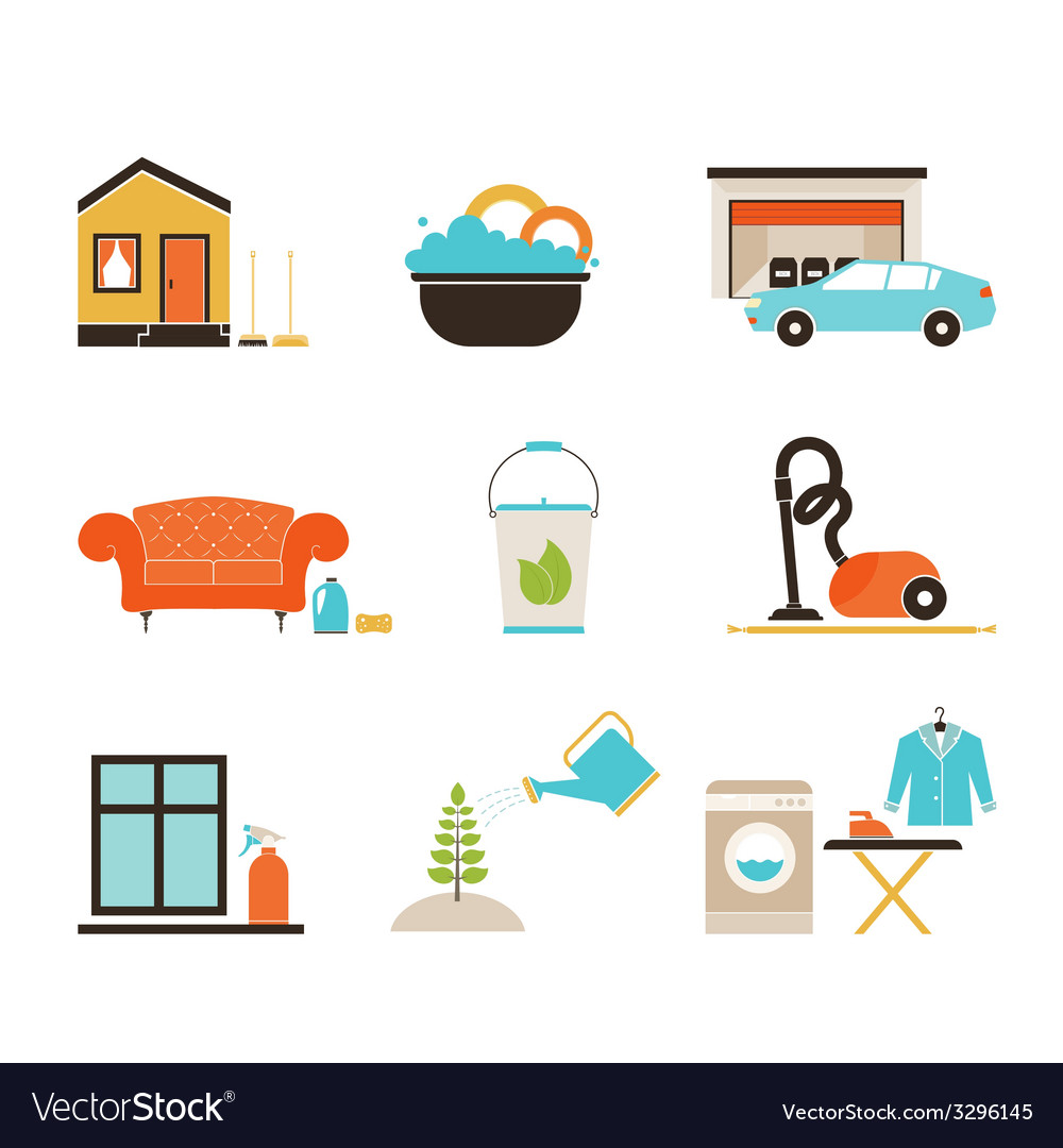 House cleaning vector   Price: 1 Credit (USD $1)