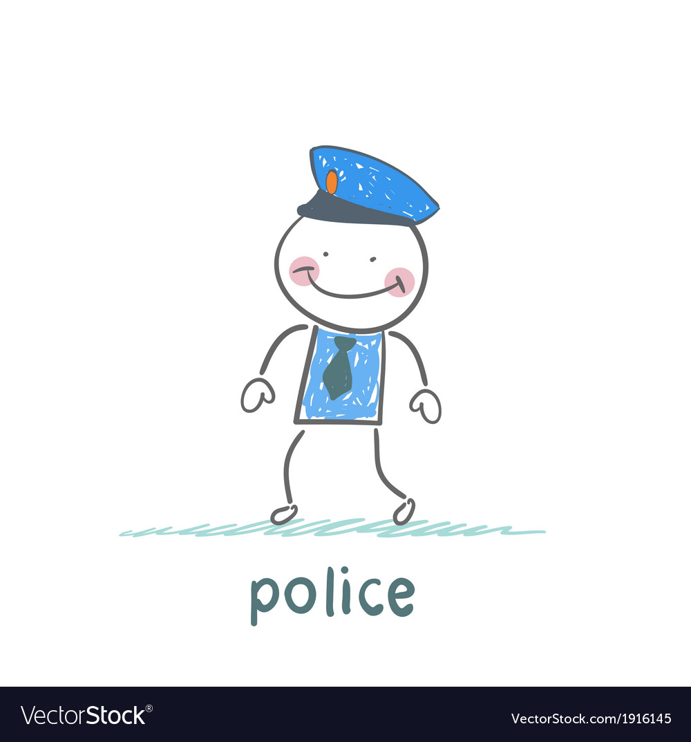 Police stand without moving vector | Price: 1 Credit (USD $1)