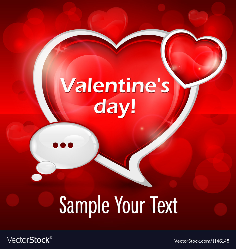 Valentines day message vector | Price: 3 Credit (USD $3)