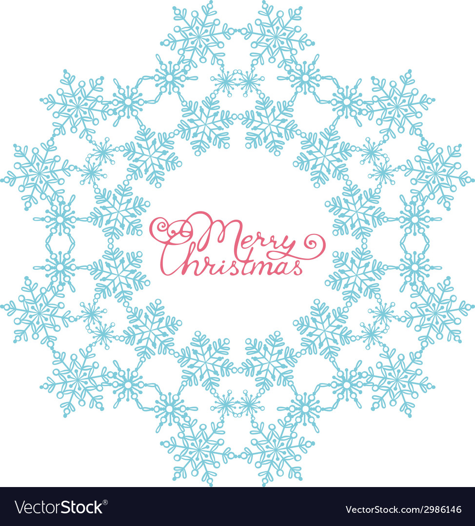 Blue snowflake from snowflakes vector | Price: 1 Credit (USD $1)