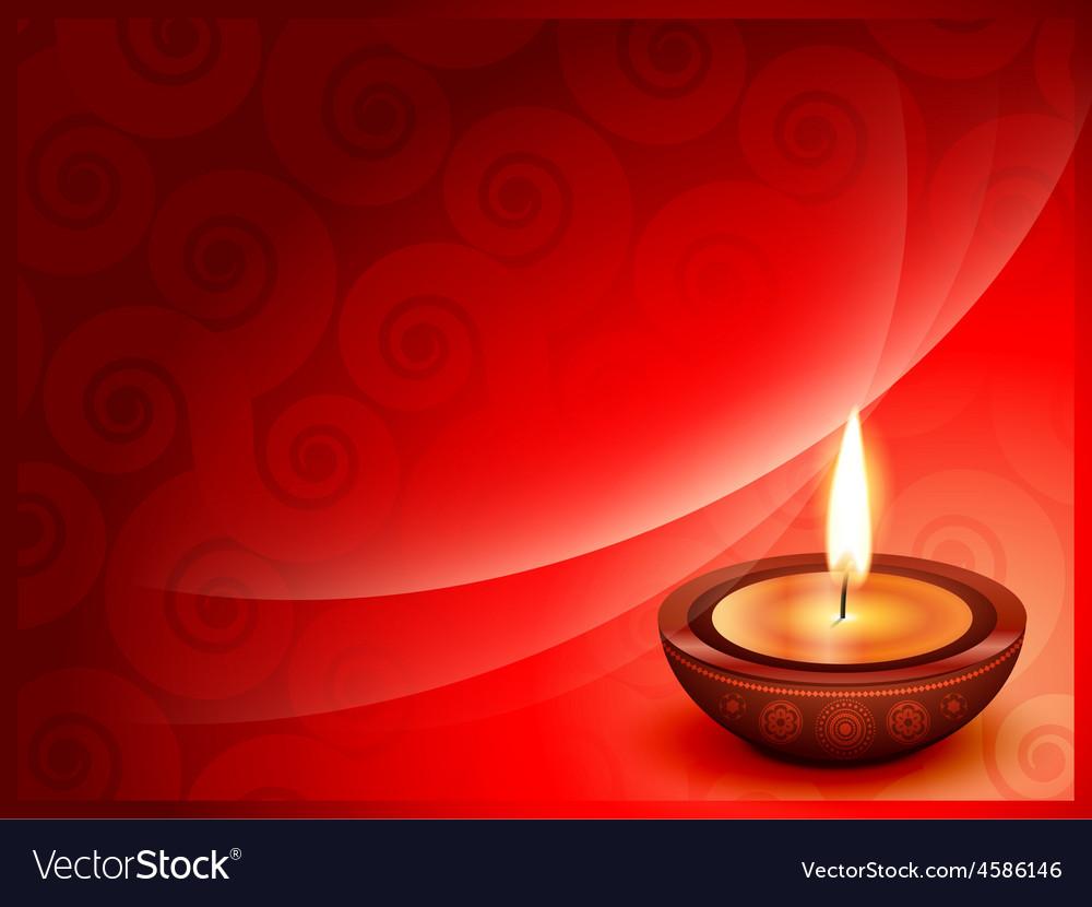 Diwali festival background vector | Price: 1 Credit (USD $1)