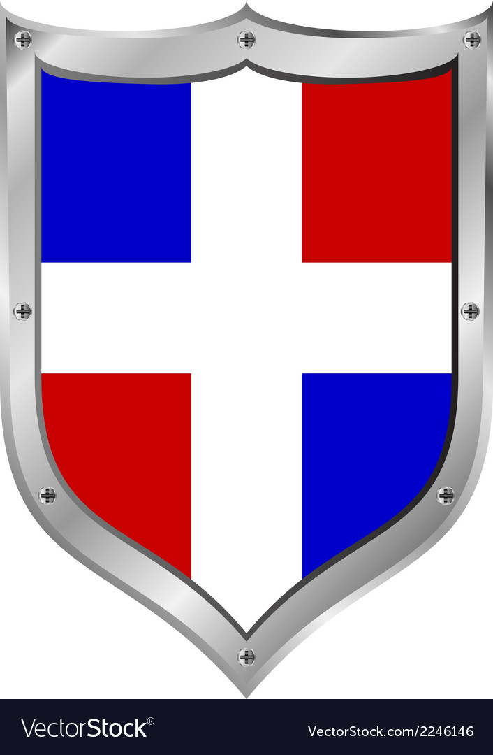 Dominican republic flag button vector | Price: 1 Credit (USD $1)