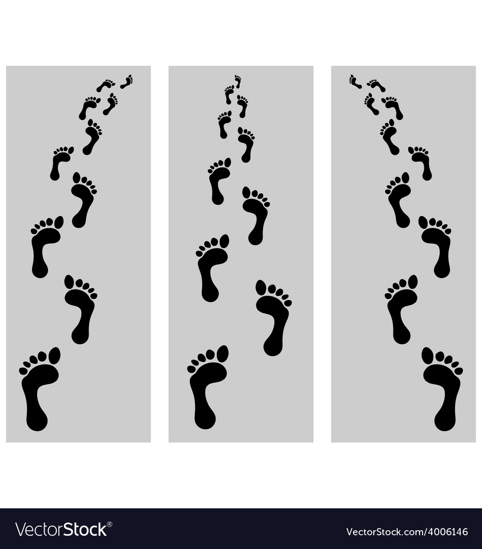 Footsteps vector | Price: 1 Credit (USD $1)