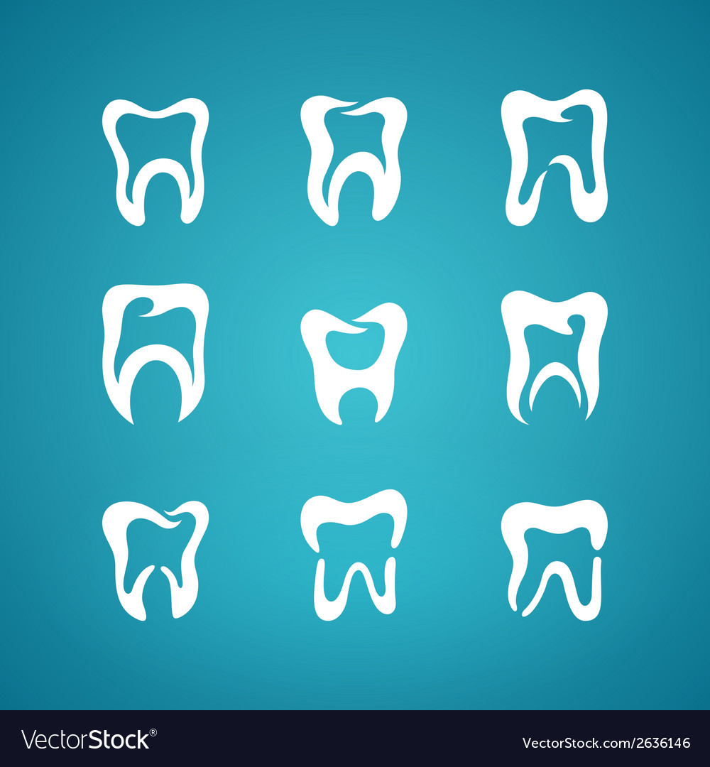 Icon painted teeth toothpaste vector | Price: 1 Credit (USD $1)
