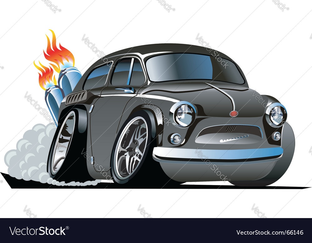 Retro cartoon hot rod vector | Price: 3 Credit (USD $3)