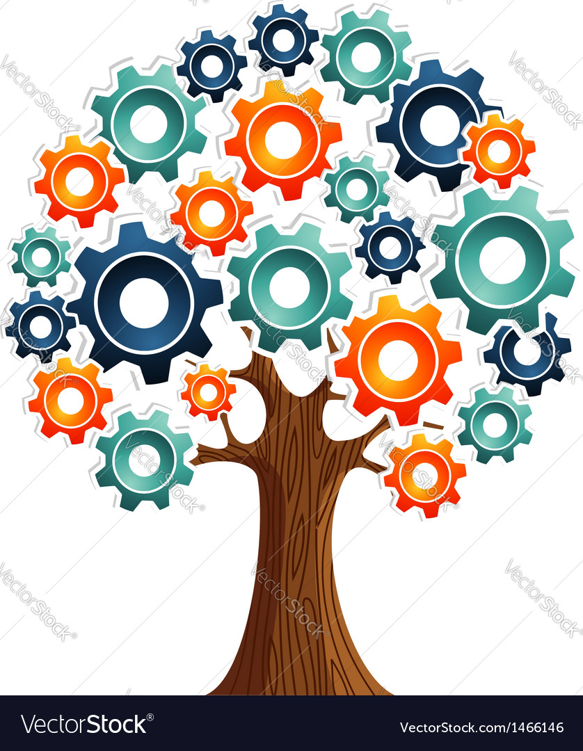 Tecnology engine tree vector | Price: 1 Credit (USD $1)