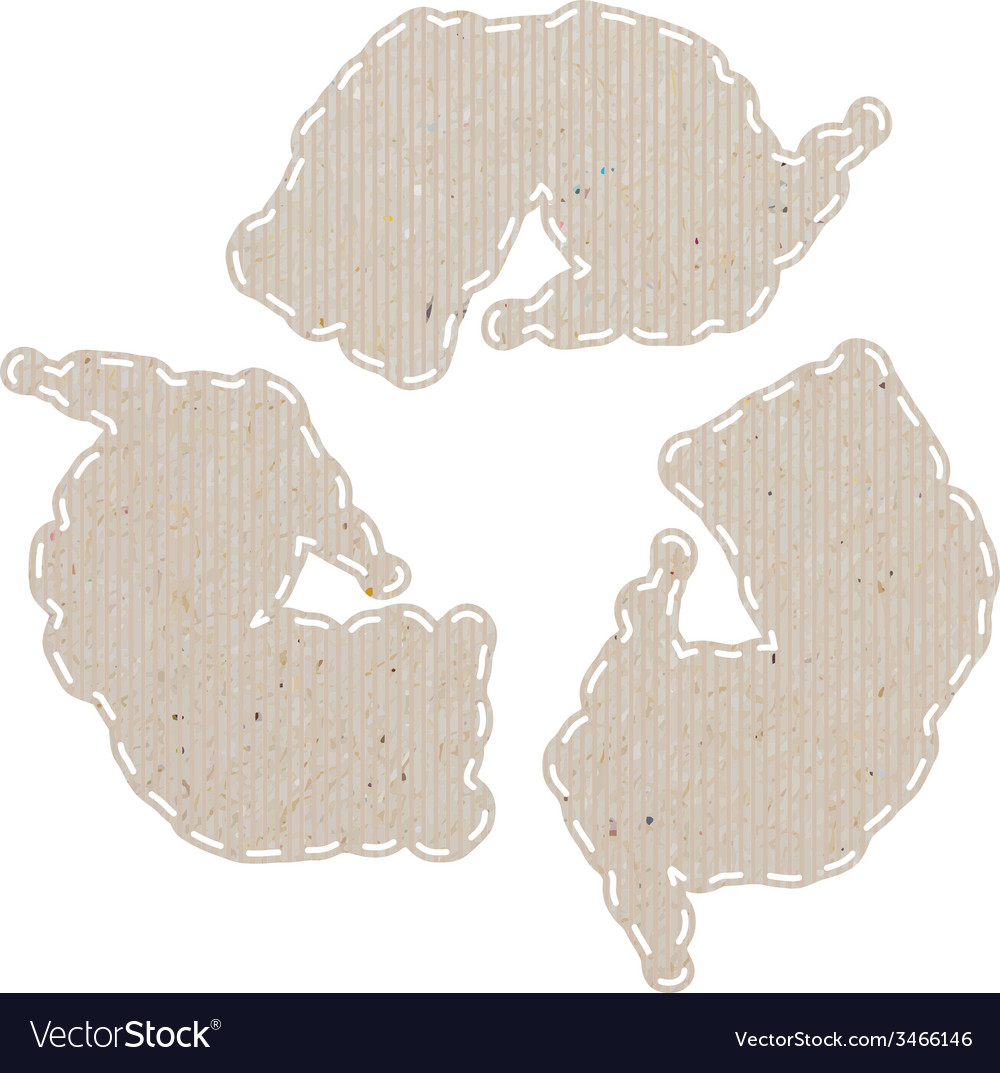 Weather recycled paper craft on white paper vector | Price: 1 Credit (USD $1)