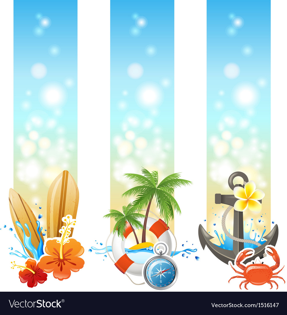 3 travelling banners vector | Price: 3 Credit (USD $3)