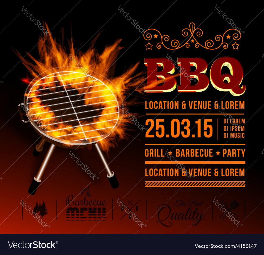Bbq party vector | Price: 1 Credit (USD $1)
