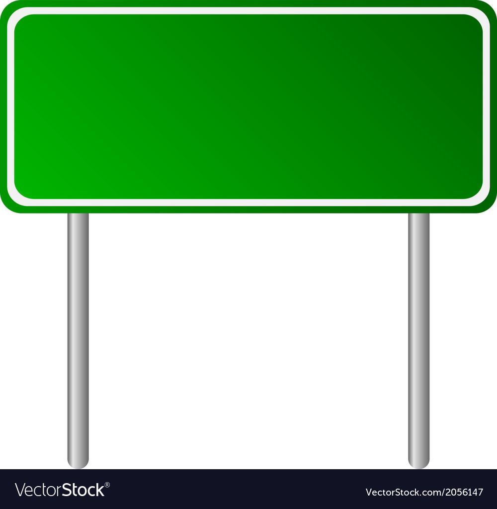 Blank green road sign vector | Price: 1 Credit (USD $1)