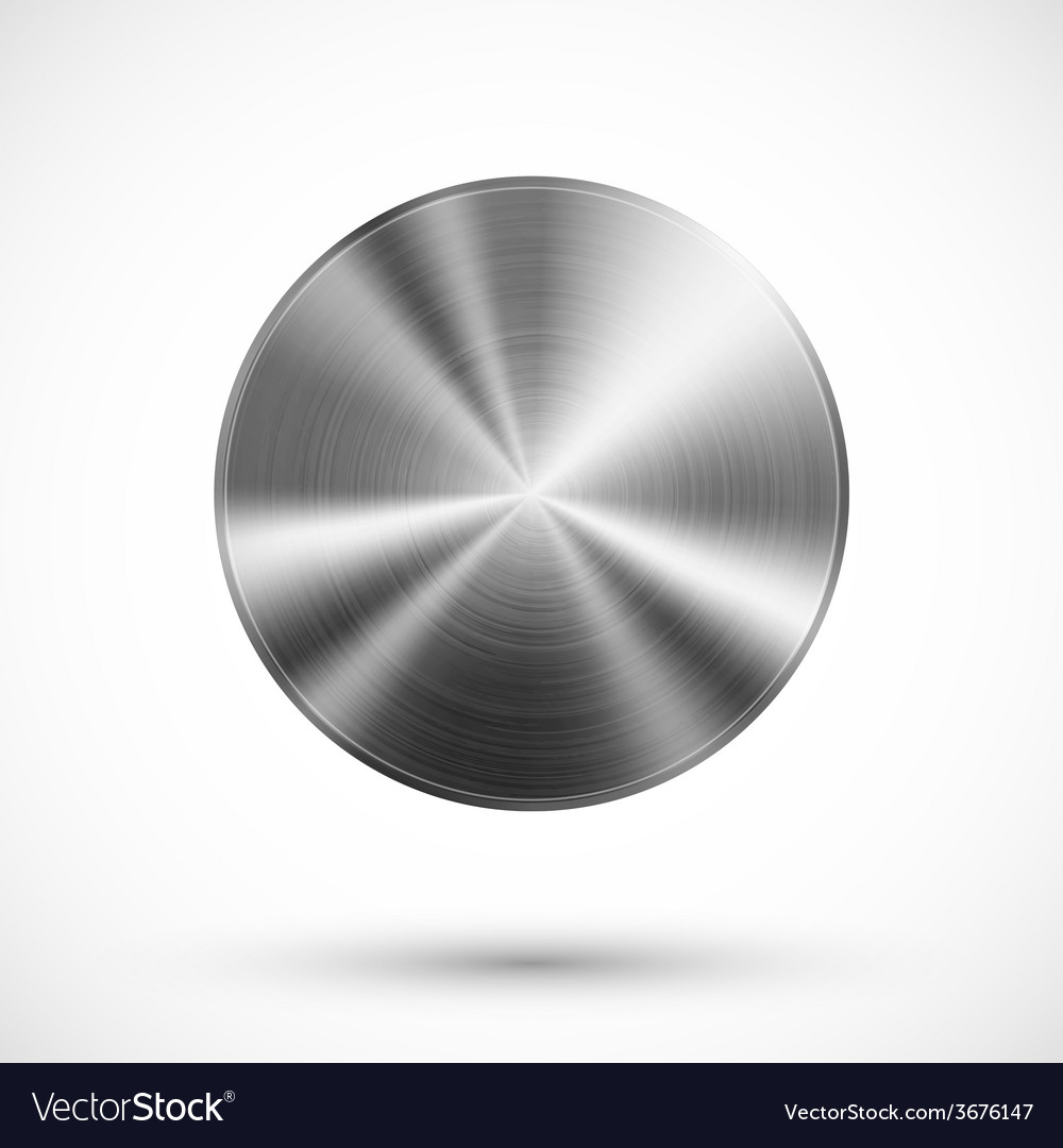Circle button metal vector | Price: 1 Credit (USD $1)