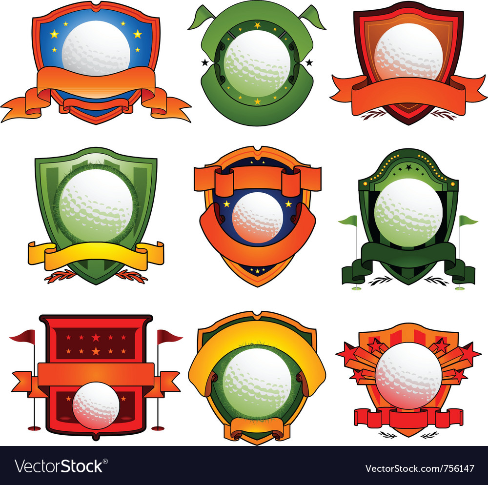 Color golf emblem vector | Price: 1 Credit (USD $1)