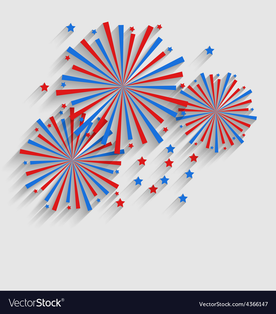 Firework colorized in flag us for celebration vector | Price: 1 Credit (USD $1)