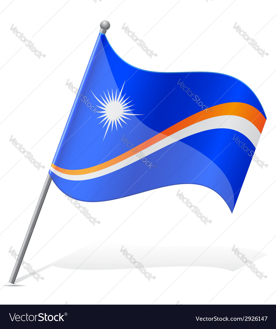 Flag of marshall islands vector | Price: 1 Credit (USD $1)